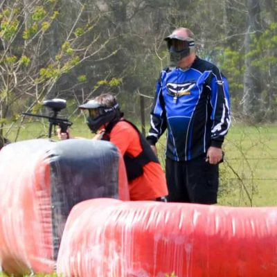 Low impact paintball games